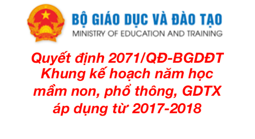 Chuyển tiếp phụ huynh khung thời gian năm học 2017 – 2018
